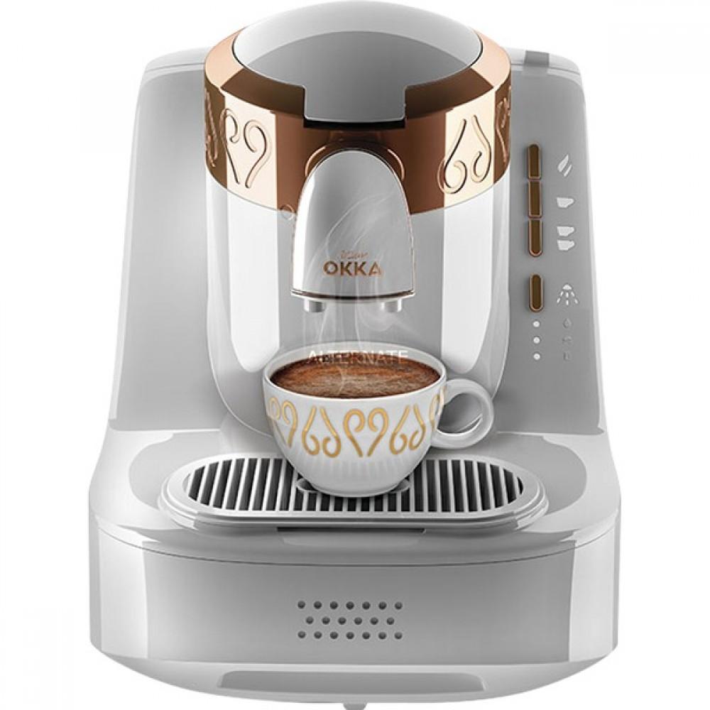 Machine à café turque Arzum OKKA | OK 001 BLANC | Blanc & OR Entièrement automatique | 2 tasses