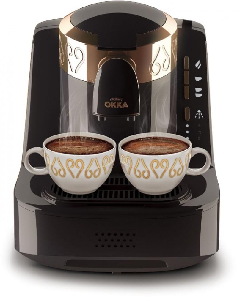 Machine à café turque Arzum OKKA | OK 002 NOIR | Noir - Chrome | Cafetière turque - Noir et argent - Entièrement automatique | 2 tasses