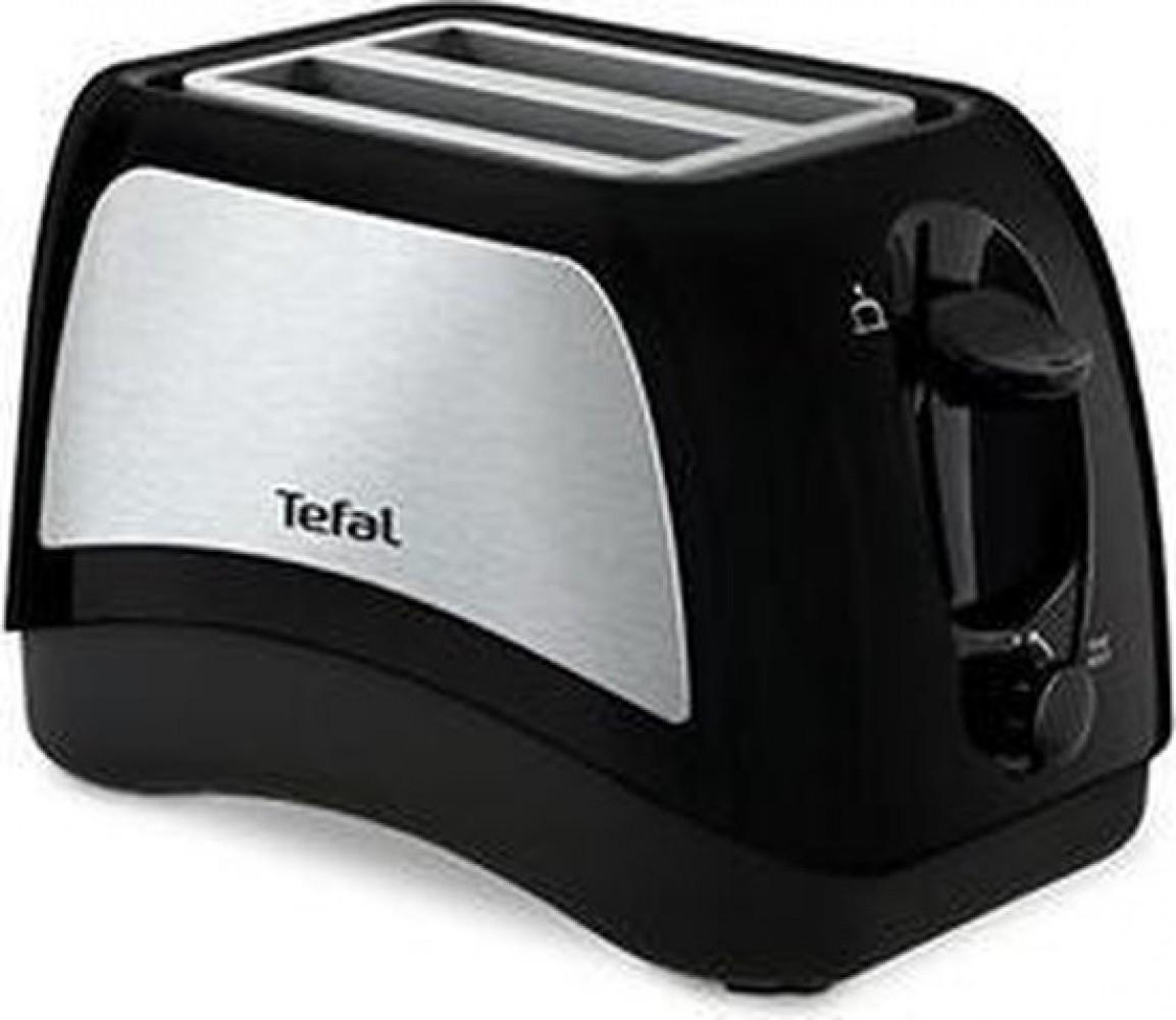 Tefal Delfini Plus 2snede(n) Zwart, Roestvrijstaal broodrooster  TT131D16